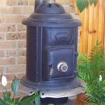 A Cosy Pot Belly Stove at the Alpine Country Motel